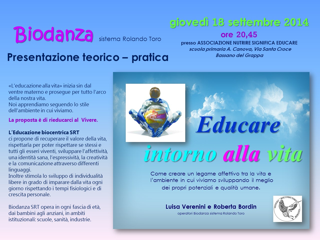 VOLANTINO presentazione Biodanza 2014